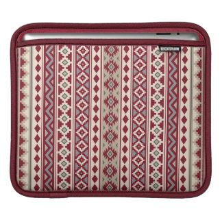 Aztec Essence V Ptn IIb Red Grays Cream Sand iPad Sleeve