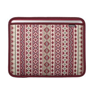 Aztec Essence V Ptn IIb Red Grays Cream Sand Sleeve For MacBook Air
