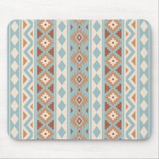 Aztec Essence V Ptn IIIb Blue Cream Terracottas Mouse Pad
