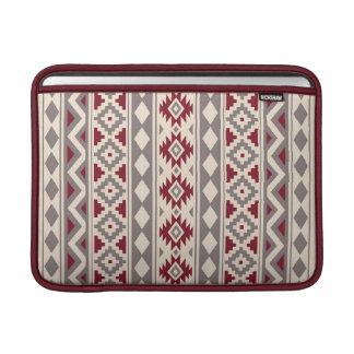 Aztec Essence V Ptn IIIb Cream Taupe Red MacBook Sleeve