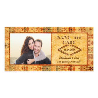 Aztec Fiesta Engagement Picture Save the Date Photo Card Template