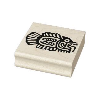 aztec fish art stamp