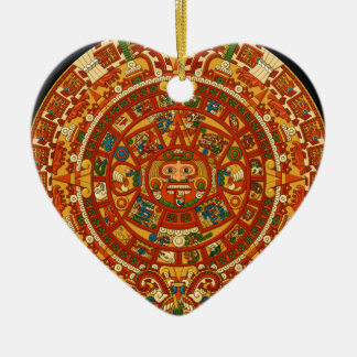 Aztec Gifts Qpc Template Ceramic Heart Decoration