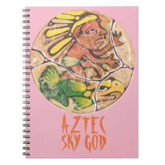 Aztec god colour - Amazing Mexico Notebook