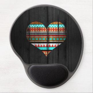Aztec heart gel mouse pad