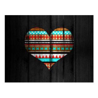 Aztec heart postcard