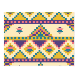 Aztec in Purple Postcard