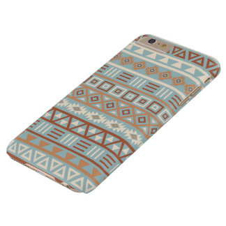Aztec Influence Pattern Blue Cream Terracottas Barely There iPhone 6 Plus Case