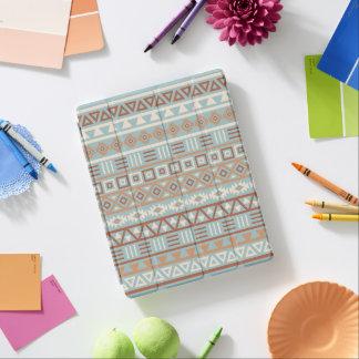 Aztec Influence Pattern Blue Cream Terracottas iPad Cover