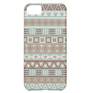 Aztec Influence Pattern Blue Cream Terracottas iPhone 5C Case