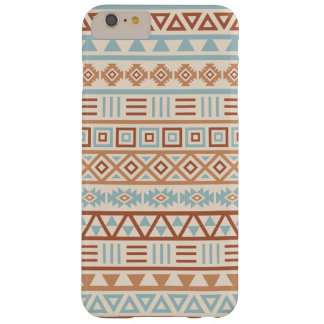 Aztec Influence Pattern Cream Blue Terracottas Barely There iPhone 6 Plus Case