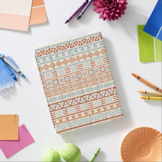 Aztec Influence Pattern Cream Blue Terracottas iPad Cover
