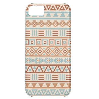 Aztec Influence Pattern Cream Blue Terracottas iPhone 5C Case