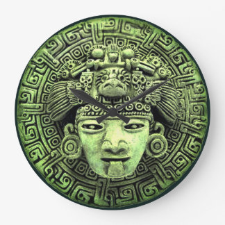 Aztec Mask Large Clock