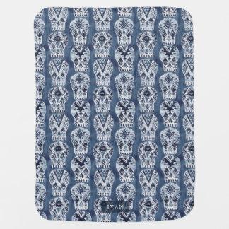 AZTEC MUERTOS Skull Watercolor Buggy Blankets