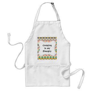 Aztec Native American Tribal ZigZags Triangles Standard Apron