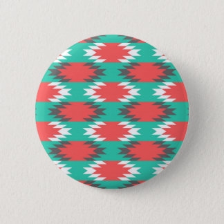 Aztec Native American Turquoise and Pink Pattern 6 Cm Round Badge