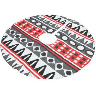 Aztec native pattern brushed polyester tree skirt