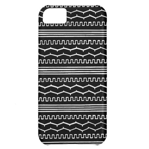 AZTEC NIGHT : Monochrome series iPhone 5C Covers