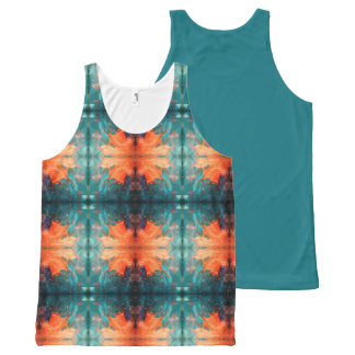 Aztec Orange Sun All-Over Print Singlet