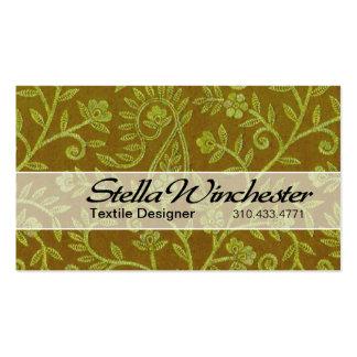 Aztec Pais Textile Designer Fabric Design Pack Of Standard Business Cards