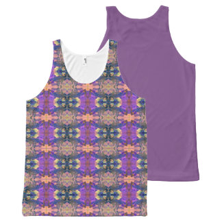 Aztec Paisley Purple All-Over Print Singlet