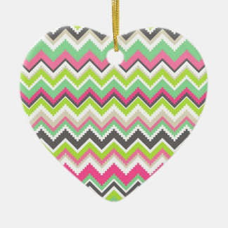 Aztec Pattern Ceramic Heart Decoration