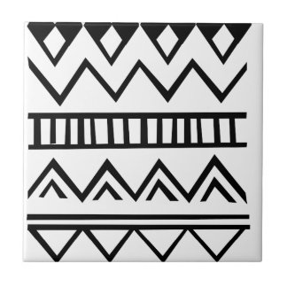 Aztec pattern ceramic tile