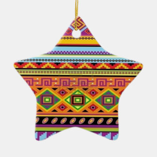 Aztec Pattern Popular Affordable Design Ceramic Star Decoration