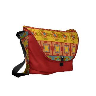 Aztec Pattern Rickshaw Messenger Bag