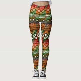 Aztec pattern stylish leggings