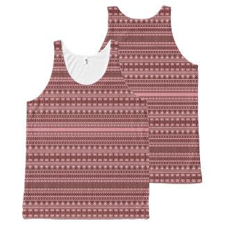 Aztec Pattern tanktop All-Over Print Singlet