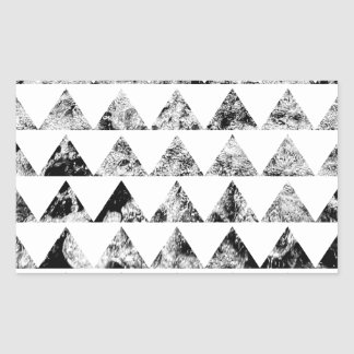 Aztec print black blank Black White Rectangular Sticker