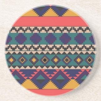 aztec print coaster