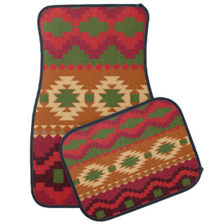 Aztec Print Design Set of 4 Car Mats Floor Mat