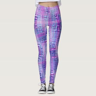 Aztec Purple Leggings