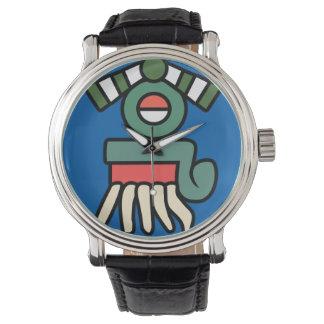 Aztec Rain Sign (quiahuitl) Watch