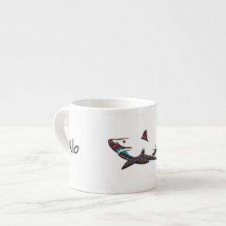 Aztec Shark Espresso Cup