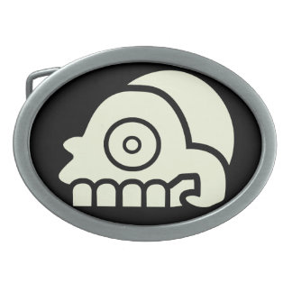 Aztec Skull Belt Buckle