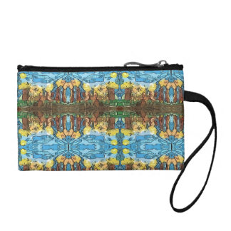 Aztec Space Forest Coin Purse