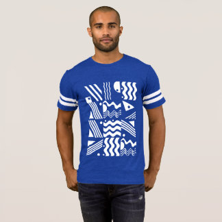 Aztec Stay Naughty Football T T-Shirt