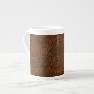 Aztec-style Design Rich Brown Bone China Mug