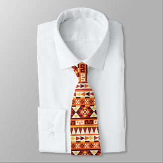 Aztec Style Geometric Pattern Tie