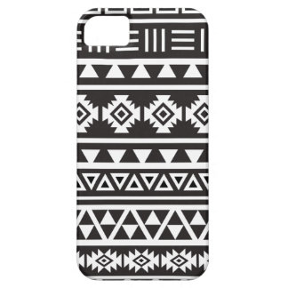 Aztec Style (large) Pattern - Monochrome iPhone 5 Cover