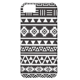 Aztec Style (large) Pattern - Monochrome iPhone 5C Case