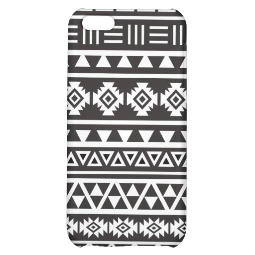 Aztec Style Large Pattern Monochrome iPhone 5C Cover