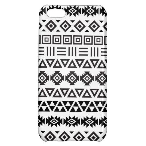 Aztec Style Pattern II (b) – Monochrome iPhone 5C Case