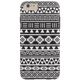 Aztec Style Pattern – Monochrome Tough iPhone 6 Plus Case