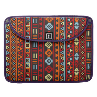 Aztec Style Pattern - Orange Yellow Blue Red & Blk Sleeve For MacBook Pro