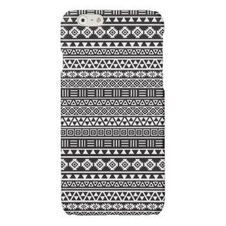 Aztec Style Repeat Pattern - Monochrome